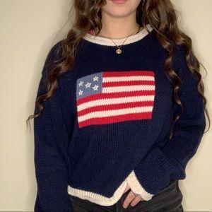 USA knit sweater
